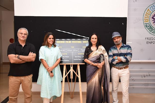 L to R - Mr Porus Khareghat, Meghna Puri , Anjana Sood . JD Majethia