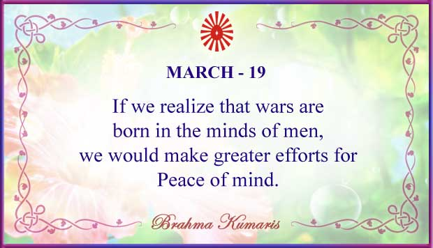 Thought For The Day March 19