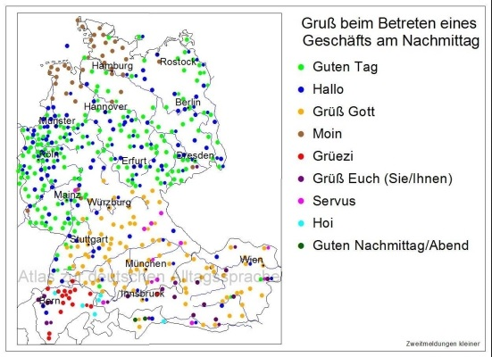 Regional greetings in German