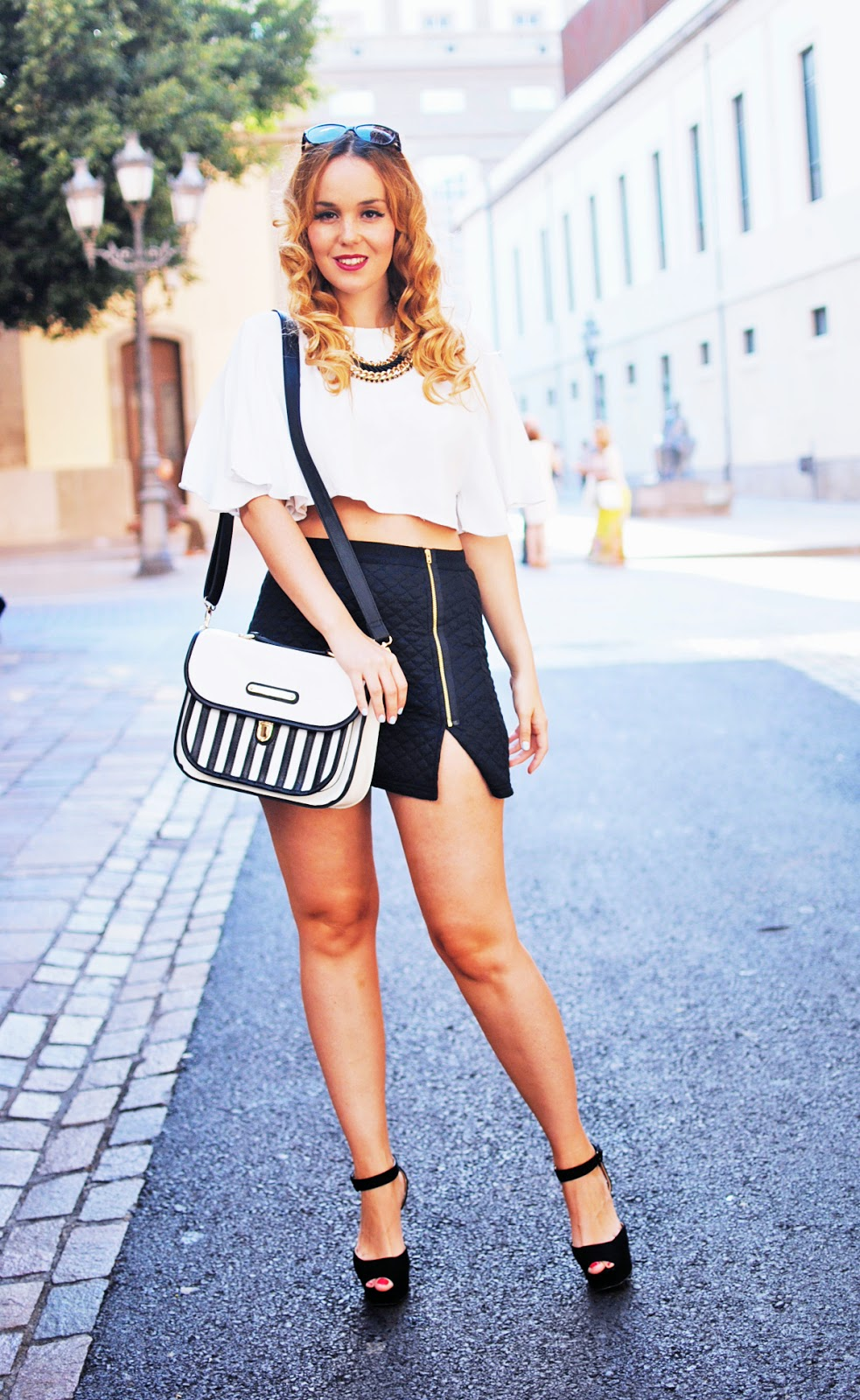 crop top, primark , blonde, nery hdez, LYDC London, satchel bag,