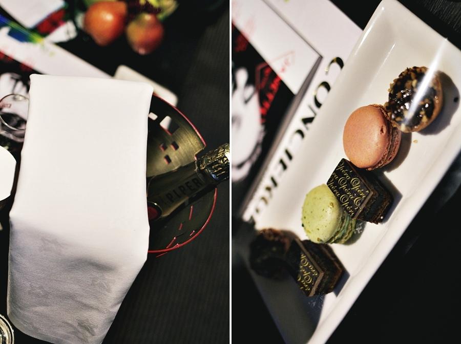 macarons pralines champange