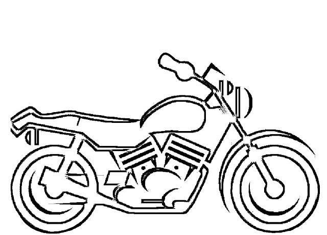 motos para colorear faciles