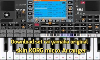 Download skin KORG micro Arranger et set rai original ORG 2018