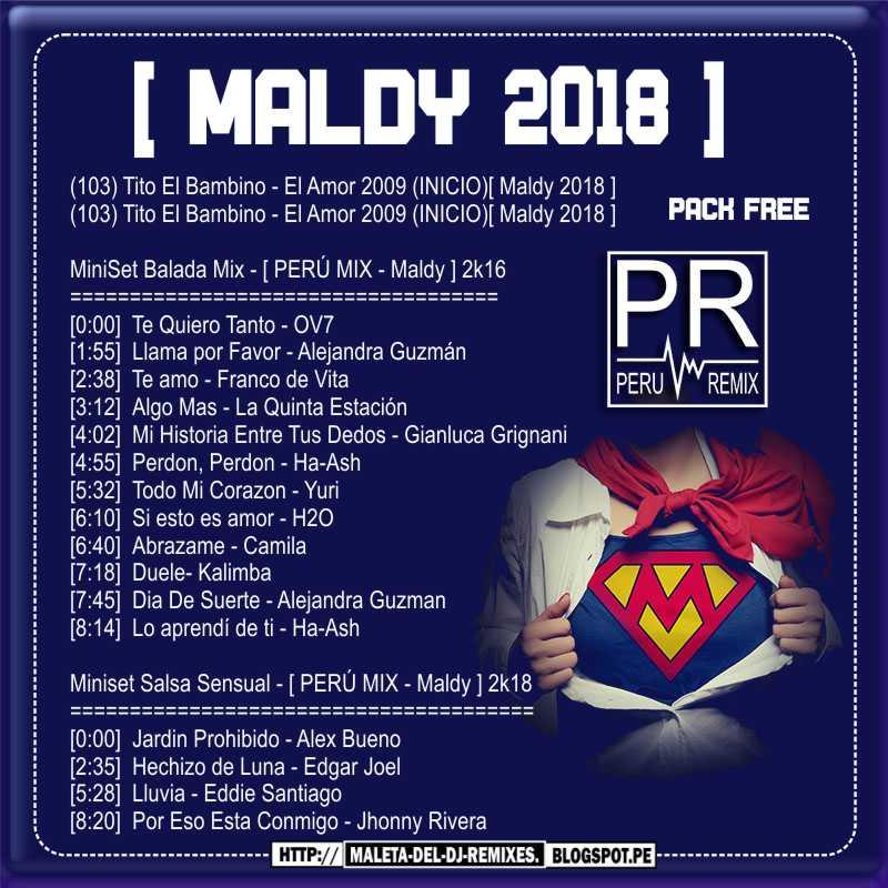 Pack regalos con amor maldy 2018 febrero per remix for Alex bueno salsa jardin prohibido