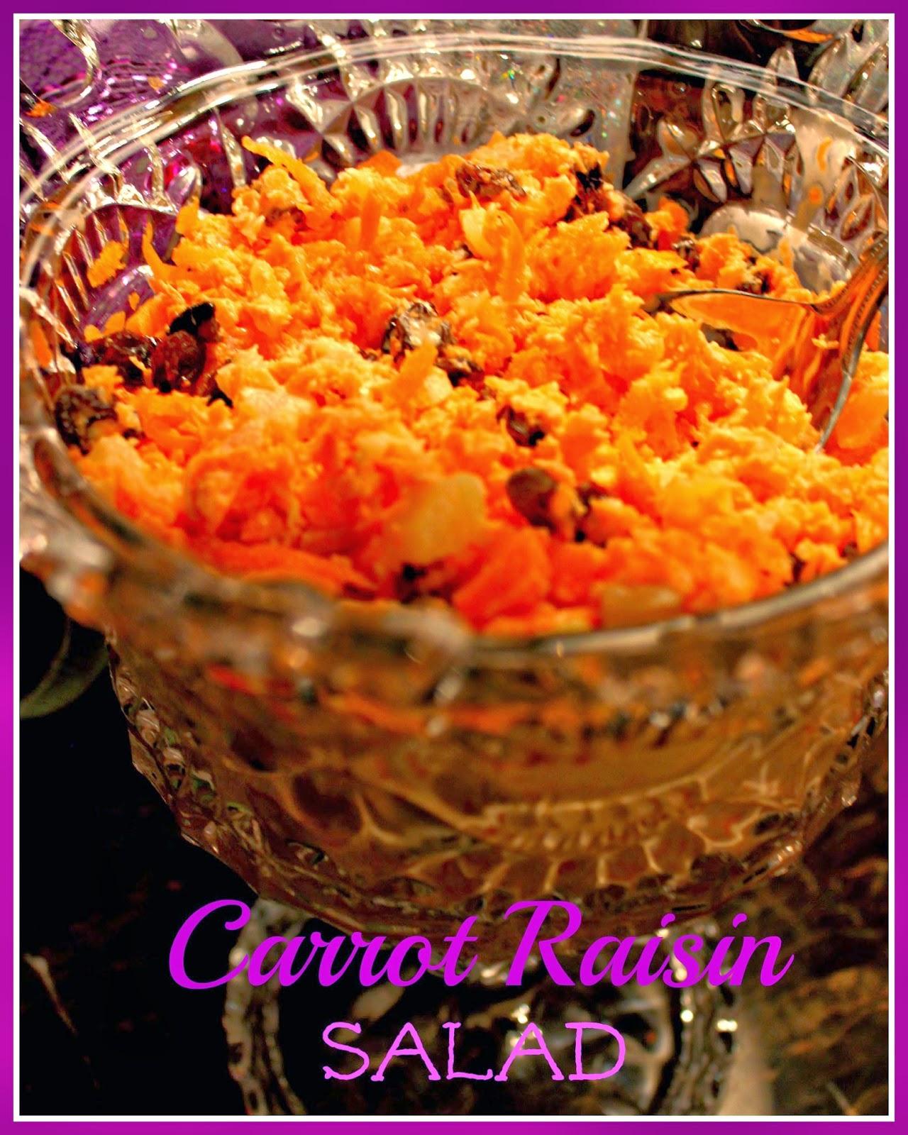 Sweet Tea And Cornbread Carrot Raisin Salad