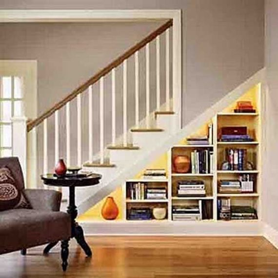 under stairs shelves | Interior Design Ideas