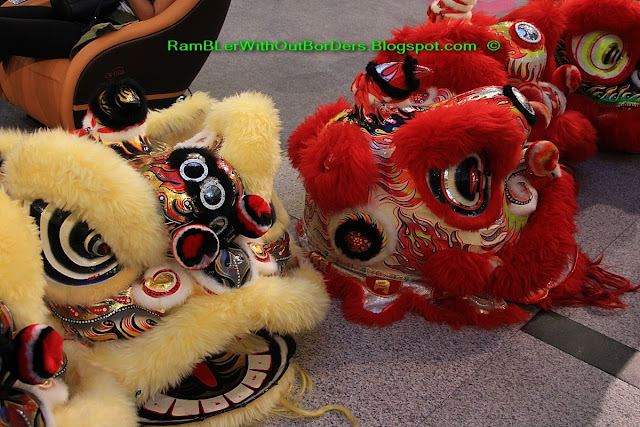 Chinese Lion heads for lion dance