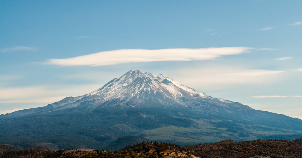 majestic mountains of Shasta is one of the rare scenes of California straight