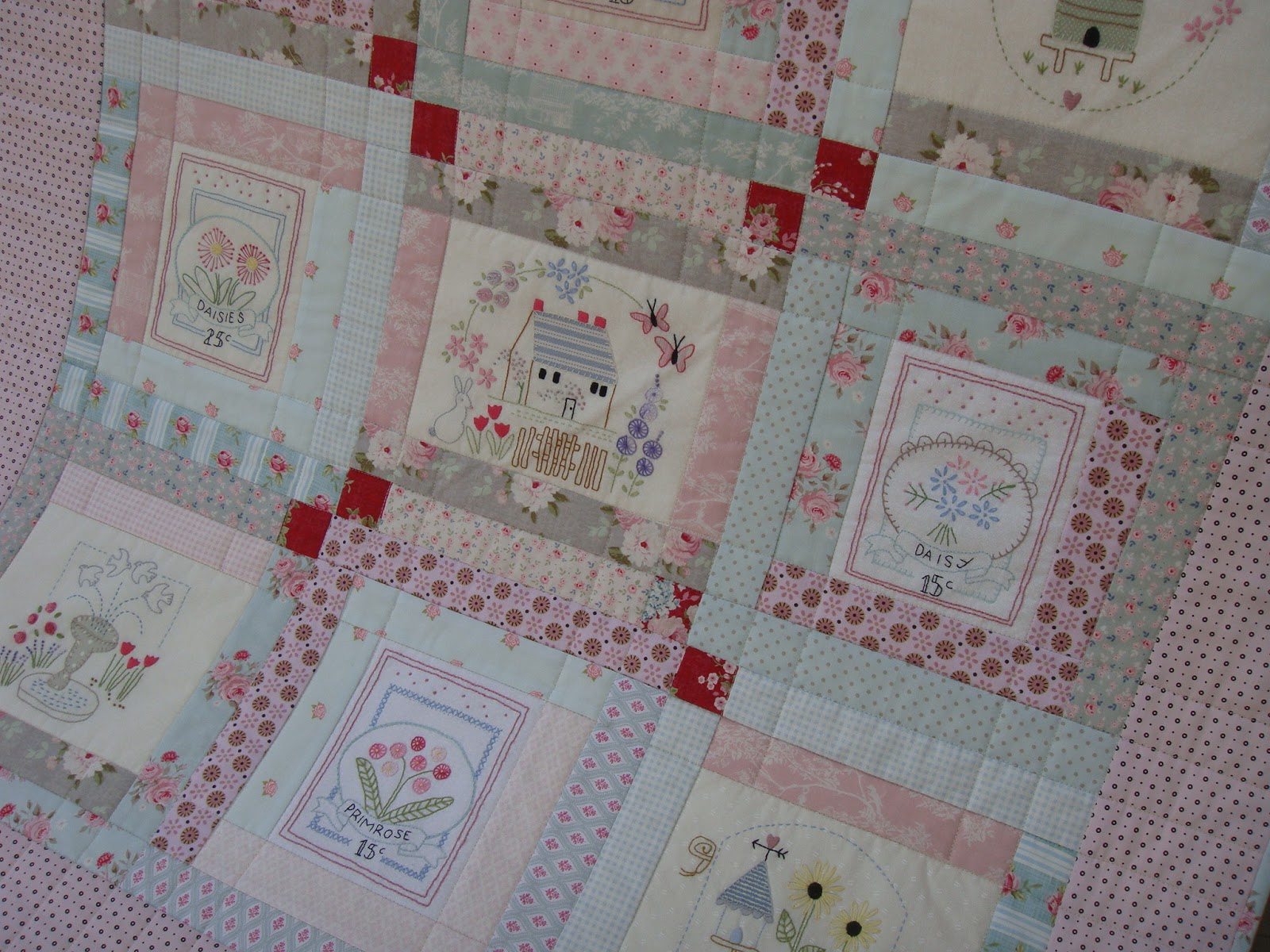 Patchwork Allsorts: Stitchery Link Up - Le Jardin Quilt : le jardin quilt pattern - Adamdwight.com