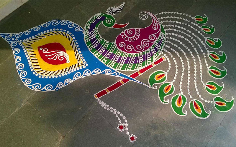 beautiful design of rangol for diwali