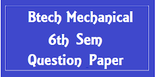 Mdu BTech ME 6th Sem Question Papers 2018