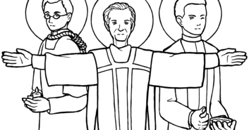 Sketches and Subcreations: Mexican martyrs coloring page
