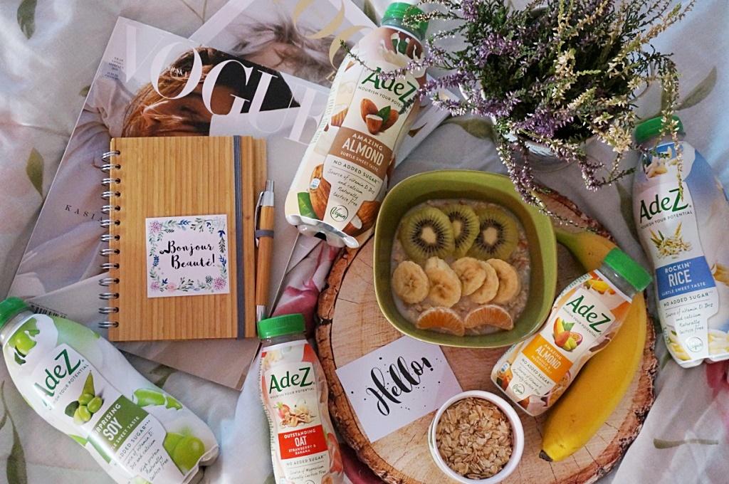 Napoje roślinne AdeZ zdrowe jedzenie