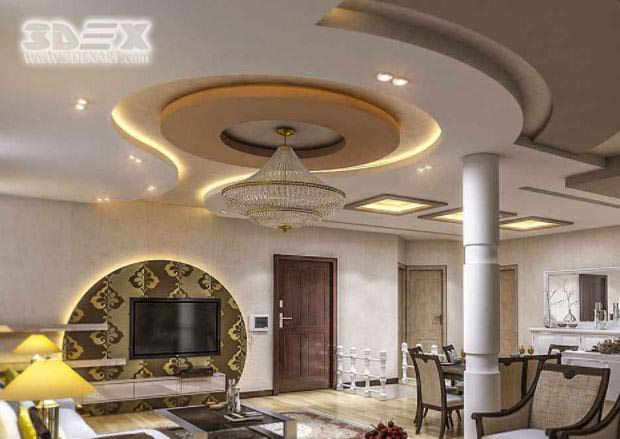 New POP false ceiling designs 2019 POP roof design for living room hall