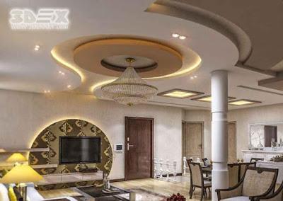 POP false ceiling designs 2019 for hall POP roof ceiling design for living rooms