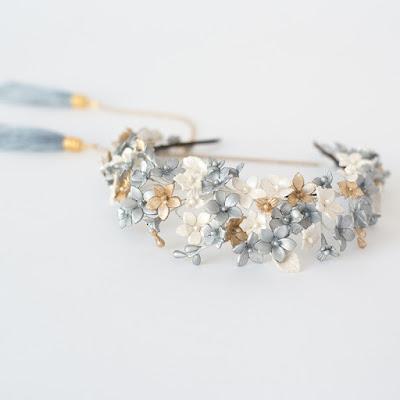 tiara flores porcelana