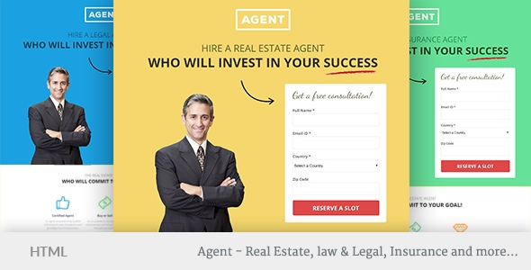 Download Agents Multipurpose Responsive Landing Page Template