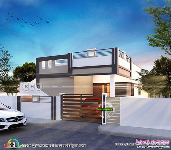 875 square feet 2 bedroom small home design