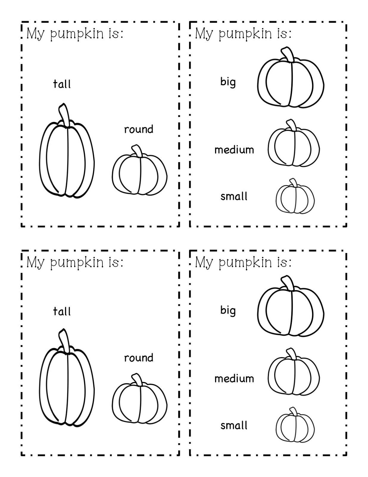 Kinder Learning Garden Pumpkin Exploration Book Freebie