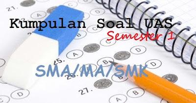 Soal UAS/PAS Bahasa Inggris Kelas 10 11 12 Semester 1