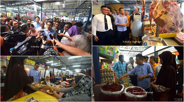 Bersenam Bersama Ketua Menteri Melaka Di Pasar Besar Bachang Melaka