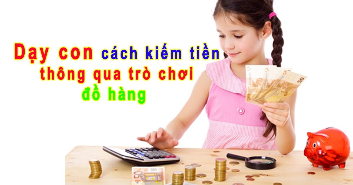 """Dạy con cách kiếm tiền thông qua trò chơi đồ hàng """"Tiệm cà phê"""""""