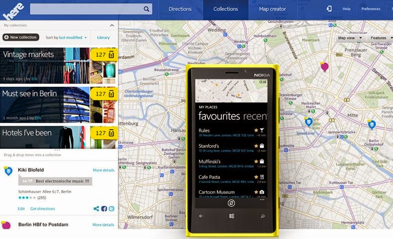 Nokia HERE Map Download in Amazon App Store for Android