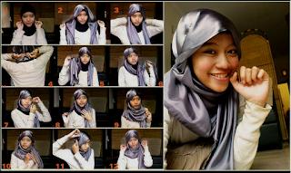 Model Hijab Segi Empat dan Gambar Tutorialnya