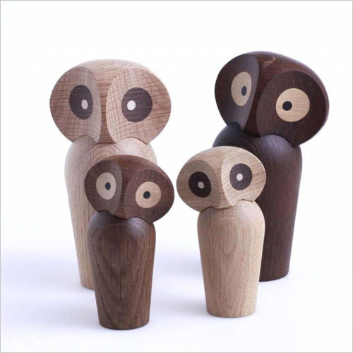 Brand new My Owl Barn: Danish Wooden Sculptures by Architectmade NG15