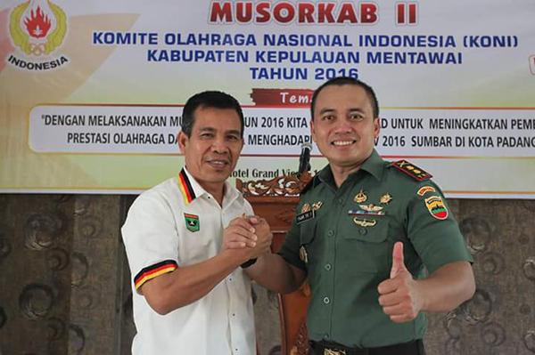 Plt Ketua Umum KONI Sumbar membuka Musorkab KONI Mentawai