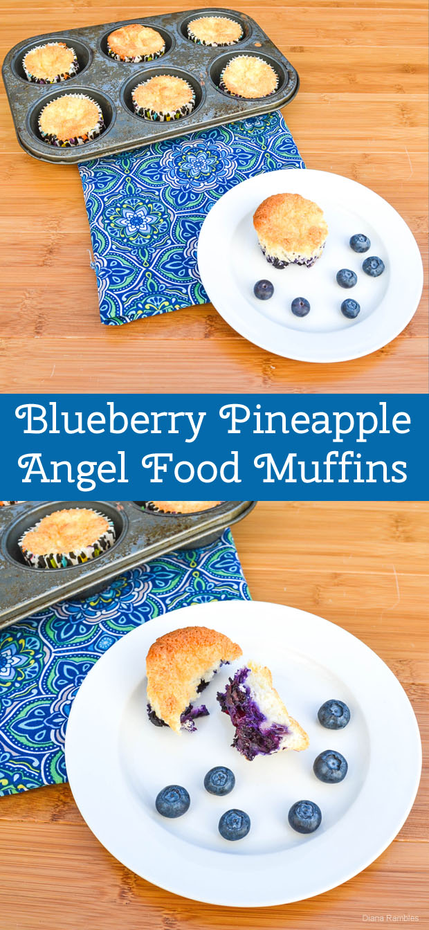 Blueberry Pineapple Angel Food Muffins Diana Rambles