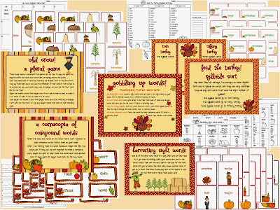 Buzzing with Ms B Time to Talk Turkey! Thanksgiving Themed Materials