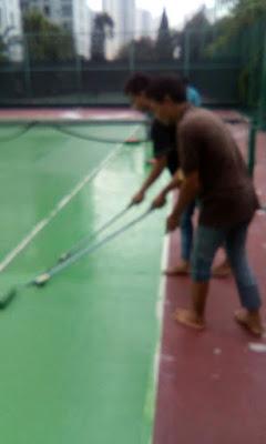 konsep pengecatan lapangan tenis