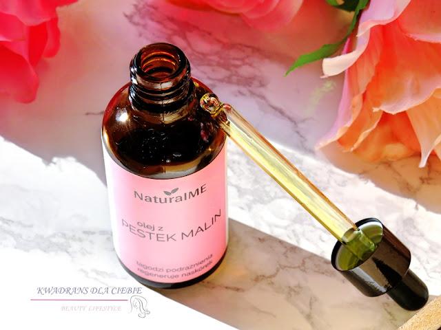 Olej z pestek malin, NatutalMe Olej z pestek malin, naturalna pielęgnacja, naturalne kosmetyki, maliny, olejek z malin, Kwadrans dla ciebie,NaturalME, kosmetyki naturalne,