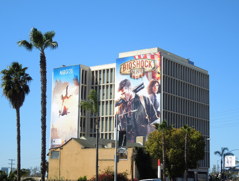 Giant BioShock Infinite video game billboard