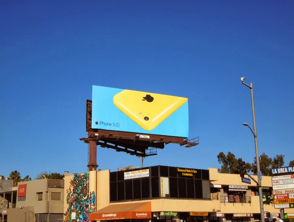 Yellow iPhone 5c wave 2 billboard