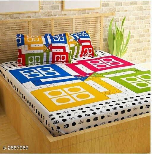 Beautiful 100 % Cotton Printed Double Bedsheet