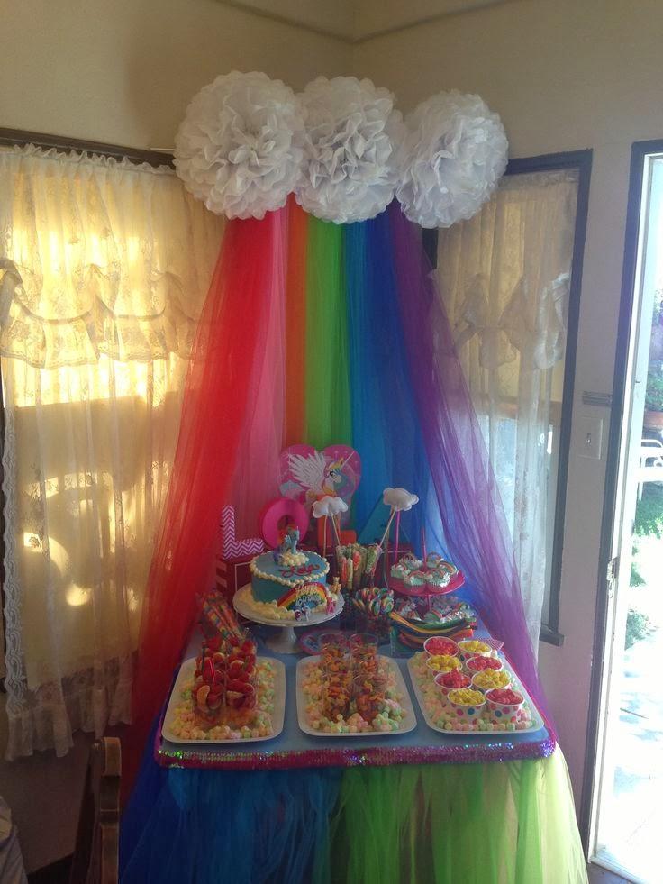 Decoraci n de fiesta de cumplea os de my little pony for Ornamentacion de 15 anos