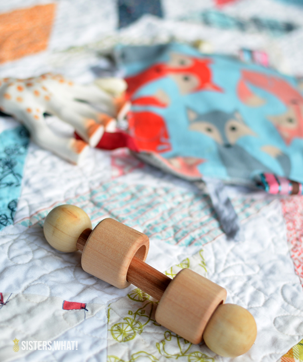 diy wood baby rattle toy