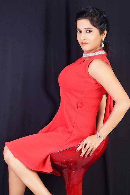 Kate Sharma Latest Hot Cleveage Spicy Red Short Skirt PhotoShoot Images