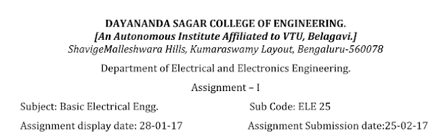 Basic Electrical Engineering Notes ~ DSCE