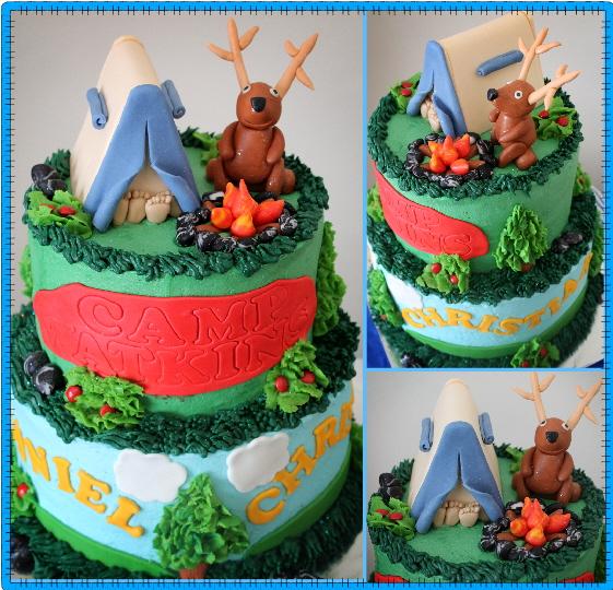 Delana S Cakes Happy Campers Cake