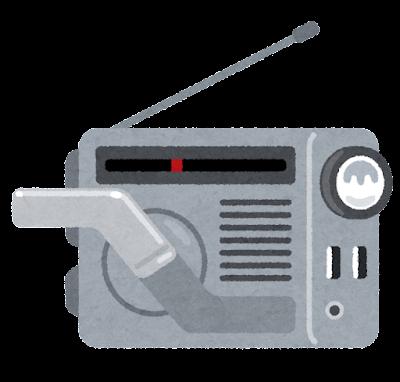 手回し発電ラジオのイラスト