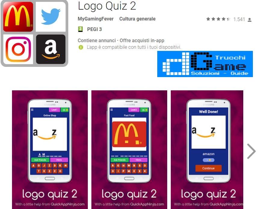 Soluzioni Logo Quiz 2 | Screenshot Livelli con Risposte