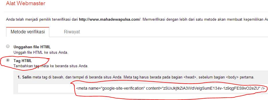 laman ke 4 google webmaster tool