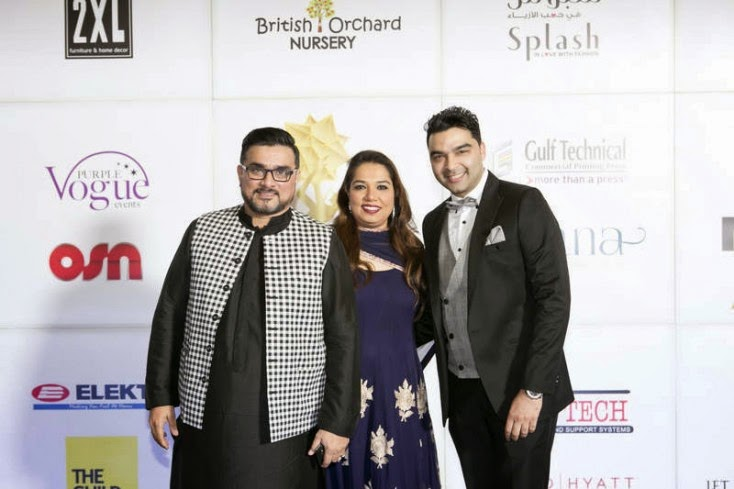 Raza and Zoha Beig with Varoin Marwah, Masala! Awards 2014 Photo Gallery