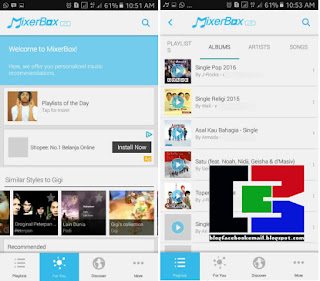 Aplikasi Pemutar Lagu Hp Android Free Music MP3 Player