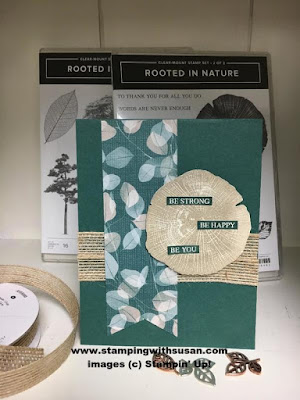 Stampin' Up! Rooted in Nature Nature's Poem Burlap Ribbon