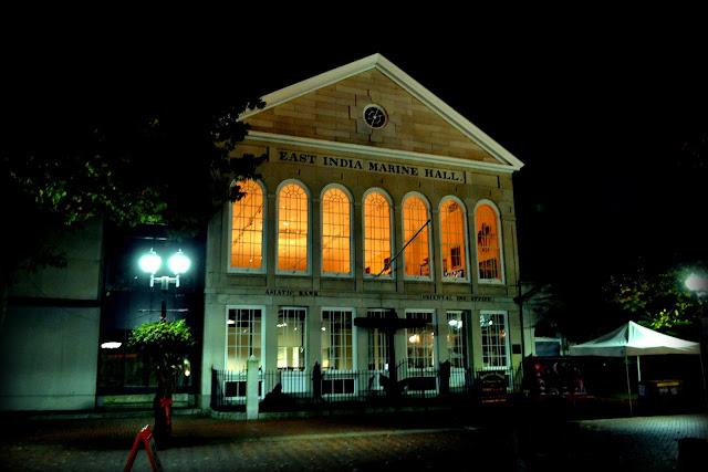 East India Marine Hall, Peabody Essex Museum, Salem, Massachusetts, night, shot, night shot
