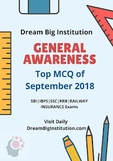 General Awareness September 2018